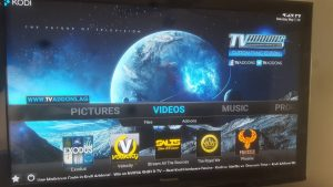 Exodus in the Kodi dashboard