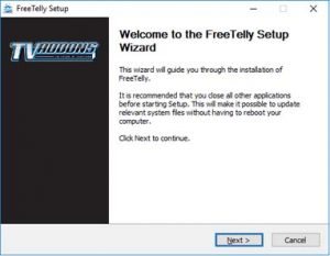 Launch FreeTelly Installer