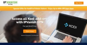 IPVanish coupon for unblocking all Kodi addons