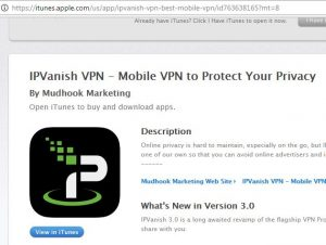Download IPVanish App for iOS