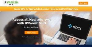 IPVanish coupon for unblocking all Kodi addons
