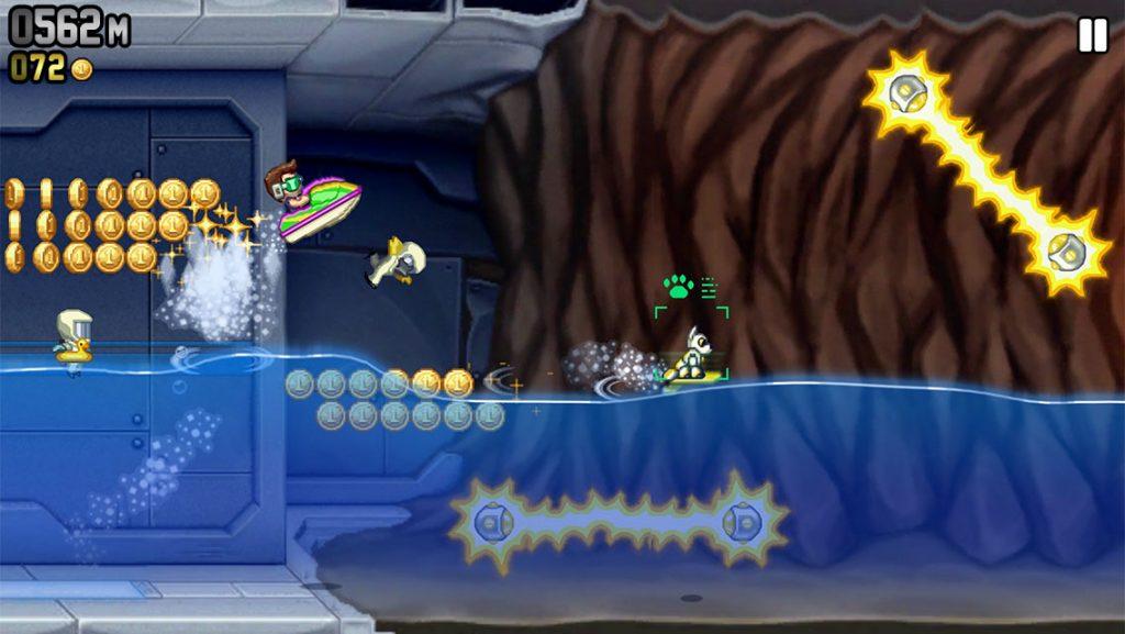 Jetpack Joyride gameplay screenshot