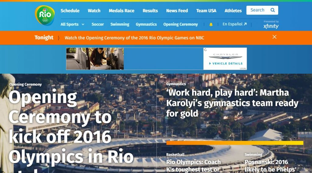 Stream 2016 Olympic for free using NBCOlympics.com