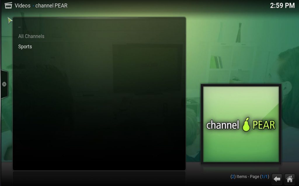 How to Install Channel PEAR Kodi TV Addon with the Addon Installer
