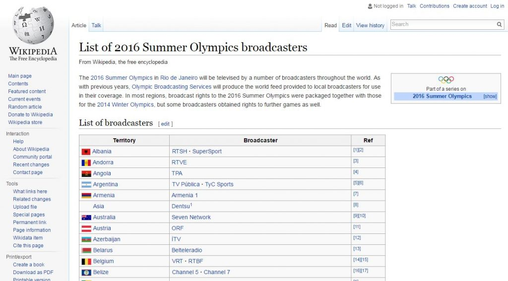 Stream 2016 Olympics for free using another country's live stream