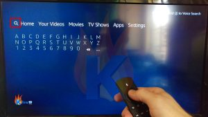 Install Kodi on Firestick Step 1: Select Search icon