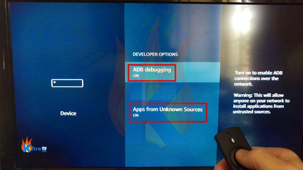 Now Enable ADB Debugging & Apps from Unknown Sources
