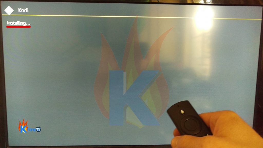 Wait for the Install Kodi on FIrestick process to finish.k.