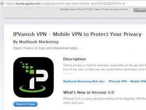 Download IPVanish App for iOS