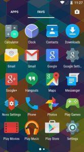 Nova Launcher on Android (Portrait mode)
