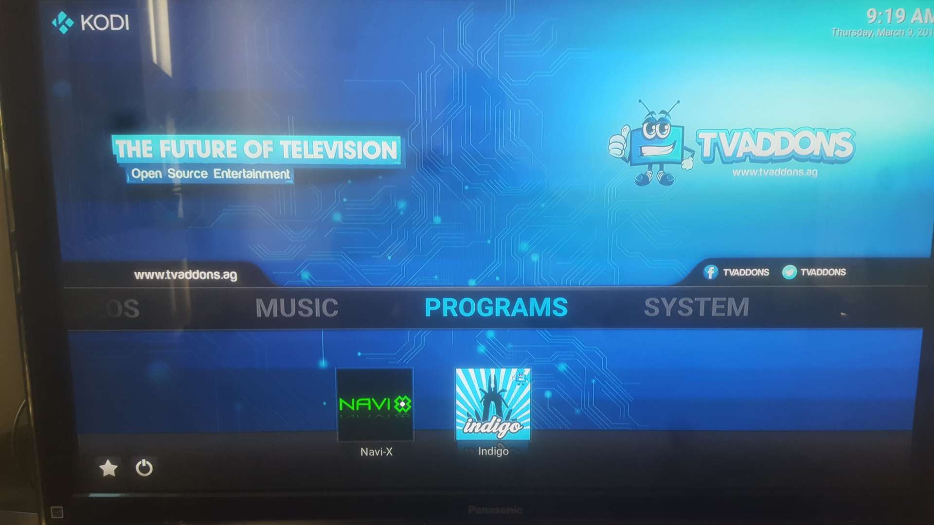 how to add program addons in kodi