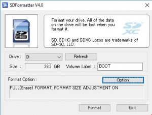 Install PINN after you format Micro SD card with SD Formatter