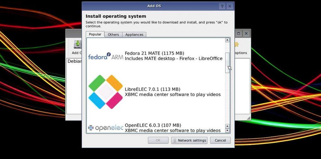 Kodi Raspberry Pi Zero BerryBoot Screen