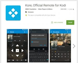 Kodi / XBMC Remote Kore (official)