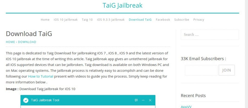 Cydia Installer - Use Taig Jailbreaker for iPhone
