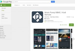 XBMC Remote: Music Pump for Kodi