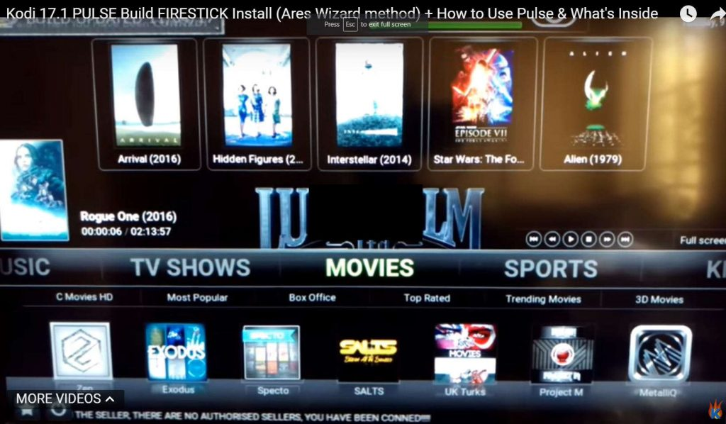 Kodi 17.1 Pulse Build Install