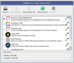 NOOBS Raspberry Pi Operating System Installer