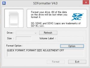 SDFormatter for Win and Mac PCs