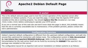 Apache web server Raspberry Pi install