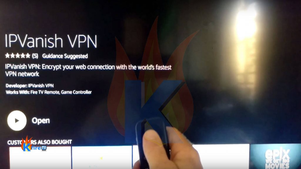 Launch the IPVanish Firestick app