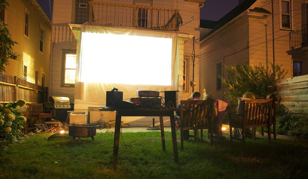 KFireTV Podcast Back Yard Movie Theater Setup