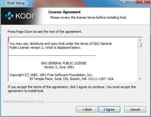 Kodi installer for Windows 7, 8 and 10