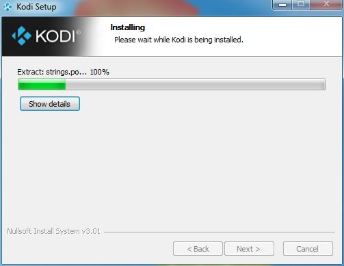 Waiting for Kodi install to complete