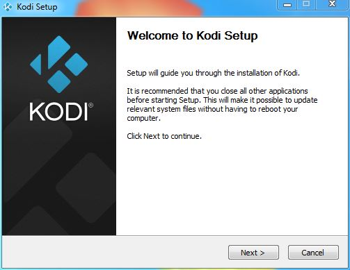 Install Kodi in Windows