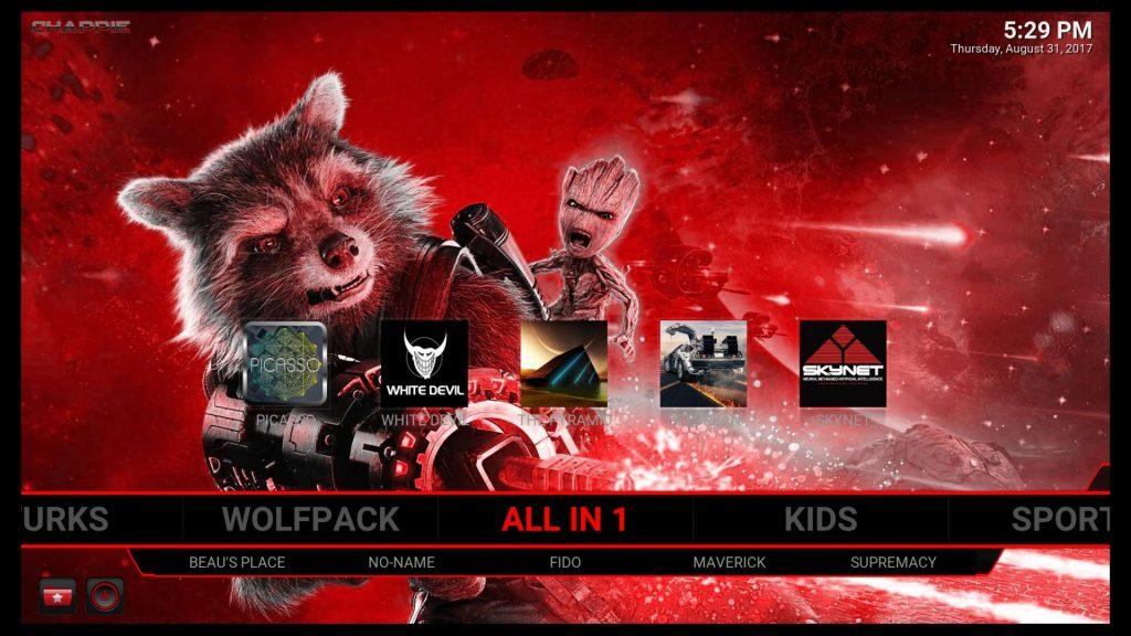 Check out this Kodi Build's All In One section!