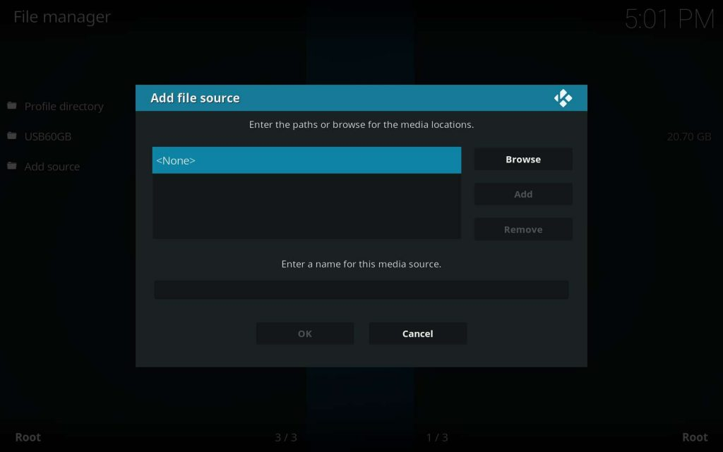 Kodi Dimitrology Repo Installation - Choose None