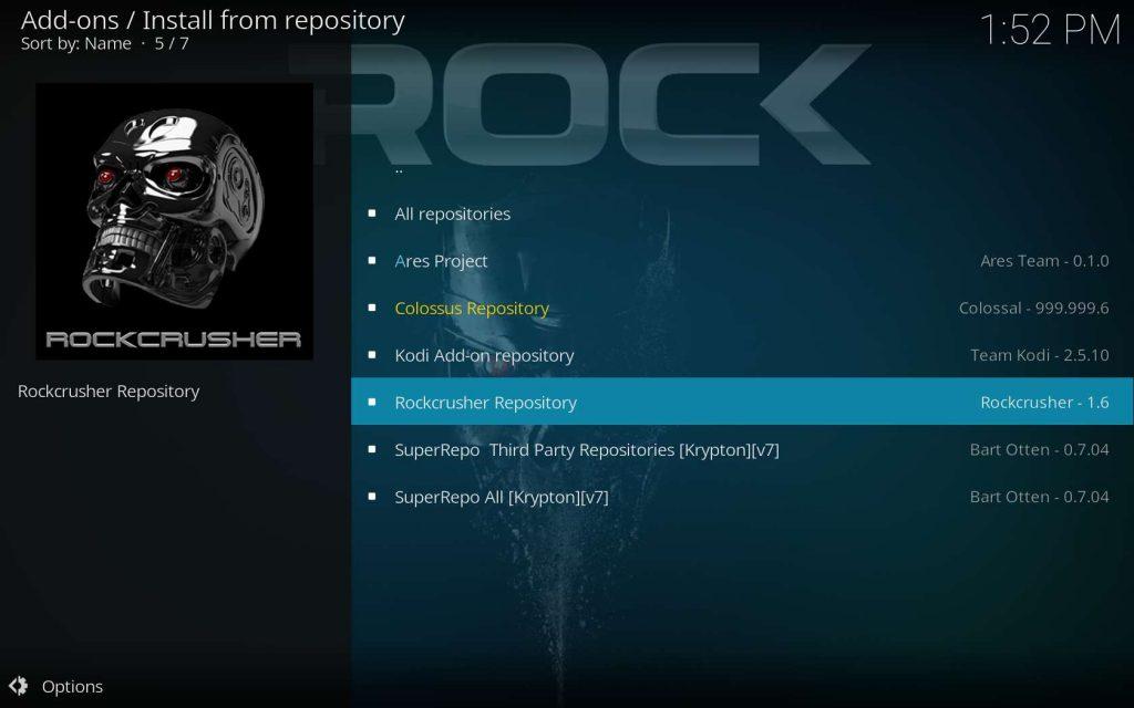 Choose the Rockcrusher repo for Vortex