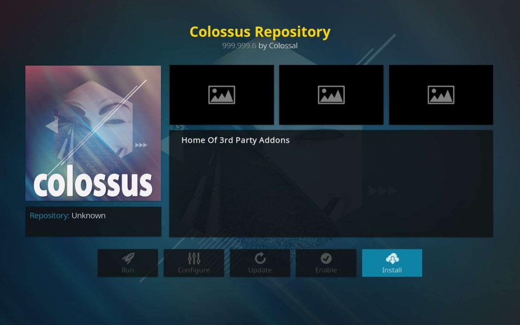 install the Kodi Colossus repo