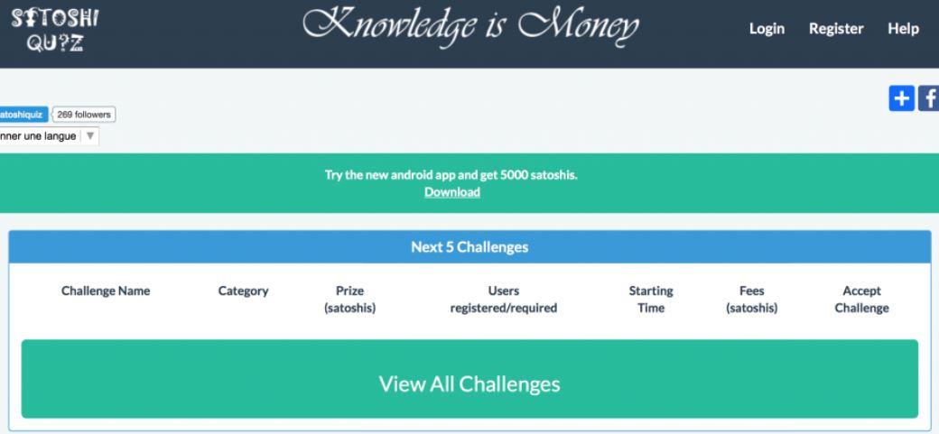 Satoshi Quiz for free Bitcoin